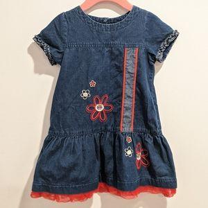 2/$20 Deux Par Deux  girls denim dress sz 3